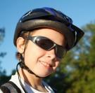 glasses and helmet